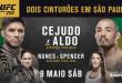 Com duas disputas de cinturão, UFC divulga card DO UFC 250 em São Paulo