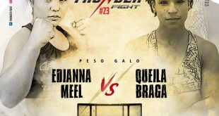 Mel Pitbull encara Queila Braga no Thunder Fight 23