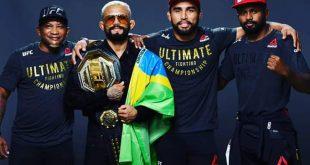 """Deiveson Figueiredo """"Deus da Guerra"""" finaliza Benavidez na 'Ilha da luta' e conquista título peso-mosca do UFC"""