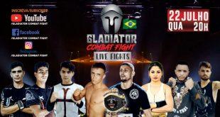 """""""Live Fights"""" do Gladiator Combat Fight coloca cinturão em jogo nesta quarta"""